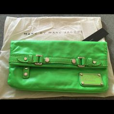 NWT - Marc Jacobs Classic Q in Electric Green Impeccable style courtesy of Marc Jacobs. Comes with dust bag, care instructions, and tag. Marc Jacobs Bags