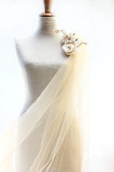 Luxurious Wedding Veil of Romantic Vintage Tulle by BridalStars