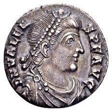 Romeinse Rijk  - Zilveren Siliqua van keizer Valens 364-378, geslagen in Trier 367-78