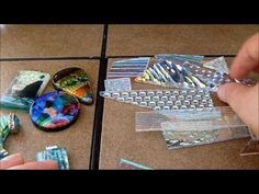 Layering dichroic glass for fused jewelry by AAE Glass - really interesting process and provides some insight into Dichroic glass art.... by francis