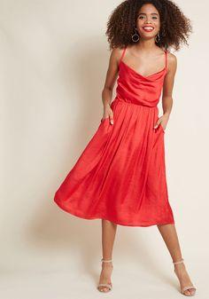 f462405e4f2 Glamorous Guest Midi Dress in Red