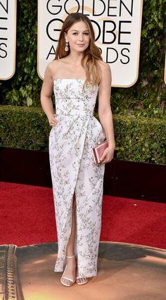 Melissa Benoist – 73rd Golden Globe Awards in Beverly Hills