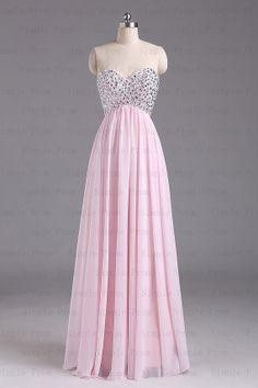 Custom A-line Sweetheart Sleeveless Floor-length Chiffon Evening Dress Party Dress Prom Dress Bridesmaid Dress 2013 With Beading