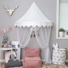 White Half-round wall Canopy Tent