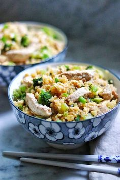 """Keto Pork and Veggie Cauliflower Fried Rice 