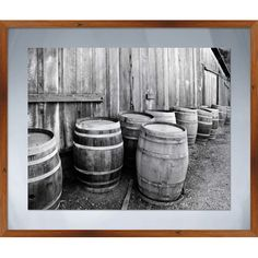 Add farmhouse appeal to your kitchen or dining room with this charming framed giclee print, showcasing a barrel motif.Product: