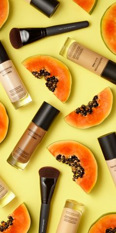 BAREPRO® Liquid Foundation with papaya enzymes for improved skin texture immediately (and over time)!