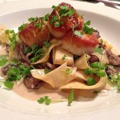 Hooked - Ocean City, MD, United States. These seared scallops over stroganoff are fantastic!