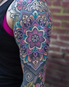 Colorful Mandala by at in Grants Pass, OR - GoPins! Gramophone Tattoo, Grants Pass, Mandala Coloring, Body Tattoos, Tattoo Models, Girls Best Friend, Jade, Photo And Video, Oregon