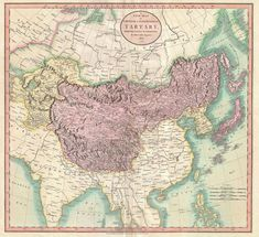 """""""A new map of Chinese & independent Tartary"""", 1806 #map #russia #asia #china #mongolia"""