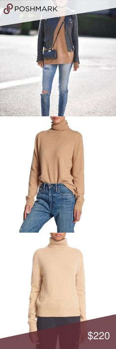 Vince Camel Cashmere Turtleneck Sweater •Relaxed pullover camel sweater with a cozy turtleneck.  •Size Large, true to size.  •New with tag.  •No trades, no holds. Vince Sweaters Cowl & Turtlenecks