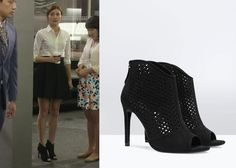 "Cha Ye-Ryun 차예련 in ""She's So Lovable"" Episode 4.  Zara Open Work High Heel Sandals #Kdrama #ShesSoLovable 내겐 너무 사랑스러운 그녀 #ChaYeRyun"