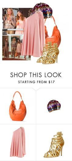 """sex and the city2"" by lilly517 ❤ liked on Polyvore featuring Halston, Linea Pelle, Halston Heritage and Manolo Blahnik"