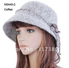 Women Bucket Hat Winter Ladies Elegant Rabbit Fur Brim Hats Cloches