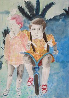 """Saatchi Online Artist lila herceg; Painting, """"Sisters"""" #art"""