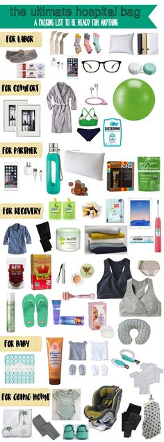 This is a great list of what to pack in your hospital bag . Blogger has some great tips at the end of this post, too. via #BabyCenter