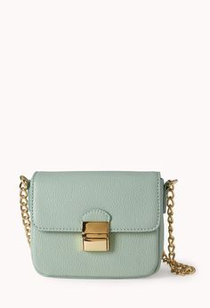 Easy Faux Leather Crossbody | FOREVER21 Must have crossbody #Handbag #Accessories #Mint