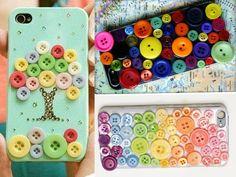 fundas de movil con botones de colores