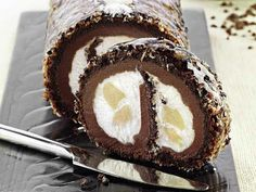 Tronchetto cocco e cioccolato di Luca Montersino | Peccati di Gola