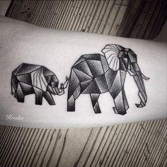 "Origami tattoos are some of the most fun geometric pieces out there! Tattoo by Aleksandra ""Kreska"" Janusz"