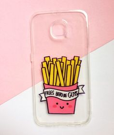 ♥ Hand painted French fries phone cases    ♥ All cases will be made to order    ♥ This design is individually hand-painted using special permanent acrylic paints onto crystal clear plastic. It is then finished with two coatings of varnish to ensure maximum durability.    - The design is painted on th