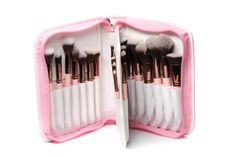 Luxie Rose Gold Brush Book 30 Piece Brush Set | The Luxie pink and rose gold brush book is a 30 piece makeup brush set that fulfills all of your makeup brush fantasies. Featuring an alluring pink cover with a refined white lining, the book is fashionable while being functional. | $350