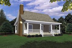 House Plan 59163 | Cottage   Country   Southern    Plan with 600 Sq. Ft., 1 Bedrooms, 1 Bathrooms