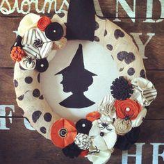 LIMITED QUANTITIES Witch wreath wreath Halloween by TealandOrange