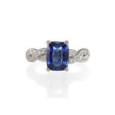Custom Made Platinum and Diamond Engagement Ring With  A Rare No-Heat, Certified Corn Flower Blue Sapphire. #sapphireengagementring