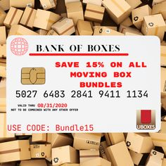 uBoxes produces the highest quality packing boxes with FREE shipping on all orders over $35.00 directly to your door!   Wait for it...   TODAY, you can save 15% off ALL our Moving Box Bundles using code: Bundle15   #MovingBoxes #BuyMoreSaveMore #Sale #ShippingSupplies #FreeShipping  #MovingCompany #MovingTips #COVID19 #MovingSupplies #Boxes Cheap Moving Boxes, Large Moving Boxes, Moving Supplies, Packing Supplies, Moving Kit, Wardrobe Boxes, Kitchen Box, Mirror Box, Tall Lamps