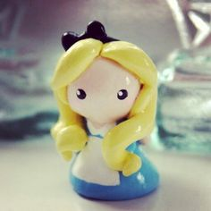 Alice polymer clay figurine