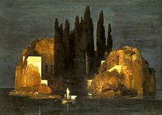 アルノルト・ベックリン「死の島 」(バーゼル版)