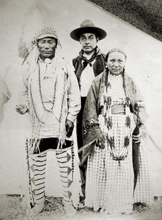 Assiniboine Indians  Assiniboine Indians- Photo taken by my 3rd Great Uncle at Fort Belknap, Montana, 1899