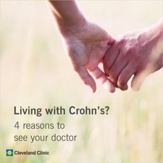 Living with Crohn's disease can be difficult. Tips to determine when to tough it out or when to call your doctor. Chronic Illness, Chronic Pain, Crohns Awareness, Holistic Treatment, Cleveland Clinic, Crohn's Disease, Celiac Disease, Health Remedies, Arthritis