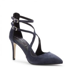 Lux Ankle Strap Pump - Navy