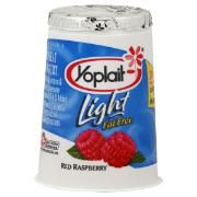 SNACK :  Yoplait raspberry yogurt