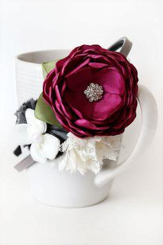Magenta flower headband by JensBowdaciousBows on Etsy, $14.95