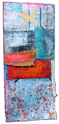 Alfredo Scaroina Don't Let Anyone Tell You Different… 2014 Encaustic, Oil, Acrylic, Dirt, Oil stick, Reclaimed Fabric, Synthetic polymer, Graphite, Spray paint, Gesso on Canvas 55 x 24 inches