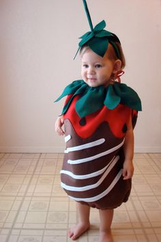 Adorable. A dipped strawberry costume for your toddler. #POPSUGARSmartLiving