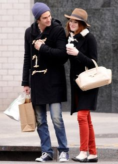 Emma Stone and Andrew Garfield were spotted out in New York City, New York - January 8, 2011