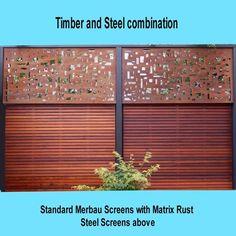 Chippy's Outdoor - Steel Screen, Corten Steel, Mild Steel Screening, Decorative Screens