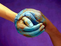 I call this Earth hands. It has been my FB picture many times. We have the world in our hands.