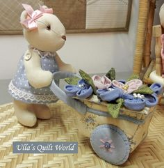 Free Teddy Bear and Cart Pattern