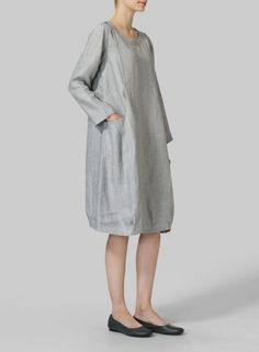 MISSY Clothing - Linen Luxe Pocketed Dress