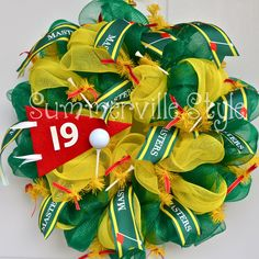 """""""19th Hole' Masters Golf Tournament wreath by Summerville Style"""