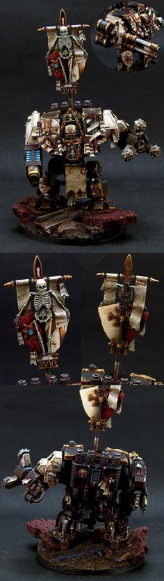 40k - Black Templars Dreadnought by Umpa
