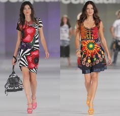 Desigual 2014 Spring Summer Womens Runway Collection - 080 Barcelona Fashion Week: Designer Denim Jeans Fashion: Season Collections, Runways...