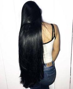 65 Ideas Hair Growth Journey Black For 2019 Black Hair Growth, Natural Hair Growth, Really Long Hair, Super Long Hair, Curly Hair Styles, Natural Hair Styles, Long Dark Hair, Long Curly, Rapunzel Hair