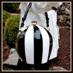 Boutique Black & White Handbag