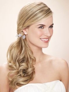 prom side ponytail hairstyles - curly side ponytail prom style pony hairstyles hair, prom ponytail hairstyles fashions, side ponytail prom hairstyles, 52 really prom hairstyles for hair gorgeous side ponytails ideas the haircut web Wedding Ponytail, Romantic Wedding Hair, Wedding Hair And Makeup, Bridal Hair, Formal Ponytail, Trendy Wedding, Wedding Ideas, Fancy Ponytail, Stylish Ponytail